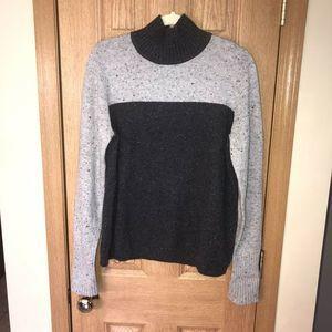LL Bean Two-Tone Mock Neck Sweater Women